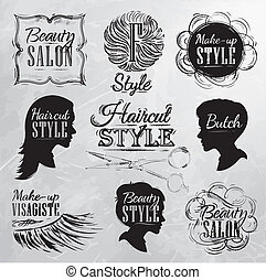 Set Beauty salon coal