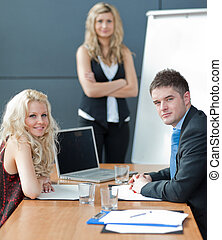 Business meeting - Portrait of a confident Business woman