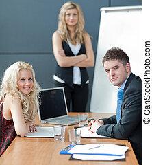 Business meeting - Portrait of a confident Business woman