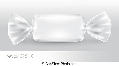 White rectangular candy package.