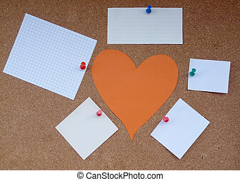 Cork board papers - Heart of the paper around the paper...