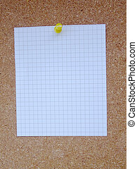 Cork board paper - Fixed with nails paper on cork board