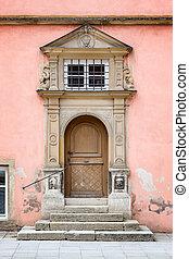 Old Door Rothenburg ob der Tauber - An image of the medieval...