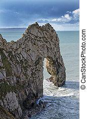 Stone sea arch, Durdle Door, UK - Stone sea arch from Durdle...