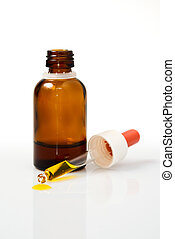 Dropper - medicine or chemistry concept - dropper and bottle...