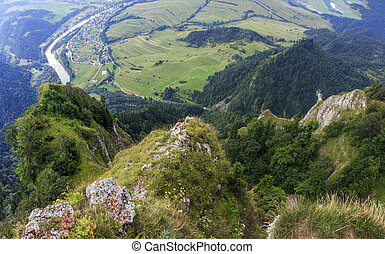 Breathtaking view from Three Crown Mountain, Pieniny, Poland...