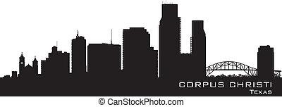 Corpus Christi Texas city skyline vector silhouette - Corpus...