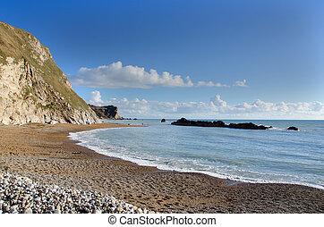 Man o War Bay near Durdle Door Dorset England. The Jurassic...