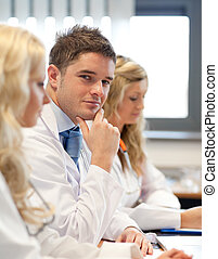 Team of doctors at a meeting