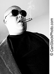 Gangster black and white - Black and white photo of a cigar...