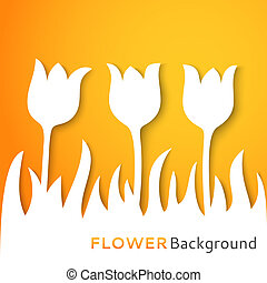 Flower applique background. Vector illustration for your...