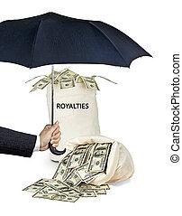 Bag with royalties