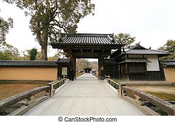 Traditional Japan temple - Traditional Japan temple at the...