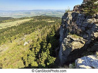 Spectacular view from top of Strzeliniec Wielki Peak, Poland...