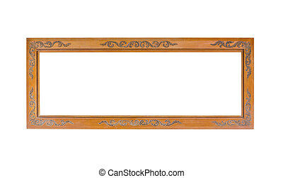 Paanoramic antique wooden frame