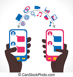 social networking - people share information or chat through...