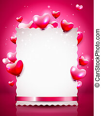 Valentine background - Modern Valentine background with...
