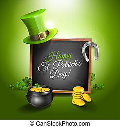 St Patricks Day - vector greeting card