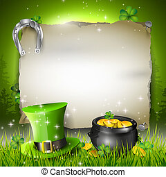 St Patricks Day background - St Patricks Day - vector...