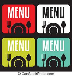 ristorante, menu