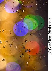Drops of rain on window with - Drops of rain on window with...
