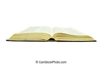 bible - The opened bible is isolated on a white background
