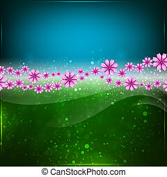 Spring or Summer abstract background.