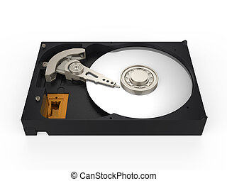 Hard Disk Drive isolated on white background 3D render
