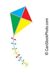 Kite - vector colorful kite