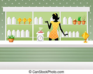 Herbalist shop - illustration of herbalist shop