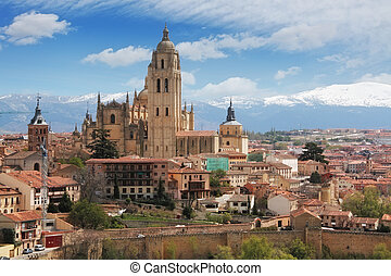 Old town of Segovia, Spain