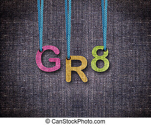 Letters hanging strings - Great Letters hanging strings with...