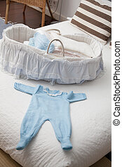 Baby carriage white background