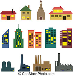 Buildings - vector set of various buildings