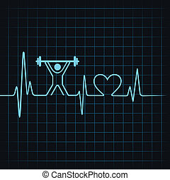Heartbeat make lifting man and heart - Heartbeat make...