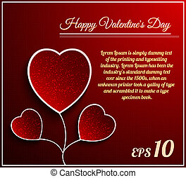 Valentine day flower heart