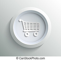 Icon shoping - App icon metal shoping with shadow on...