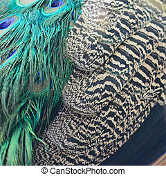 Green Peafowl feathers - Beautiful Green Peafowl feathers...