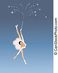 Figure skater - Winter sport invitation card