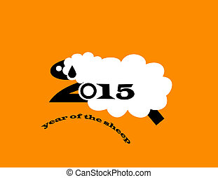 2015 Year of the Sheep - illustration of year of the sheep
