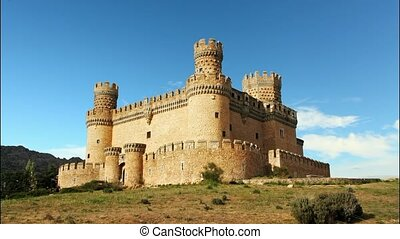 Old Castle in Span - Manzanares, Time lapse