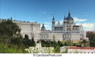 Madrid at sunset - Spain,Time lapse - Madrid, Almudena...
