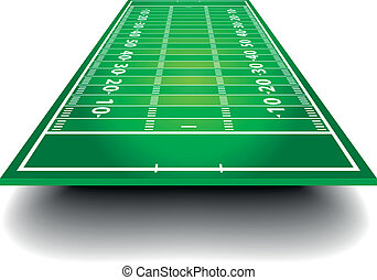 American Football Field with perspective - detailed...