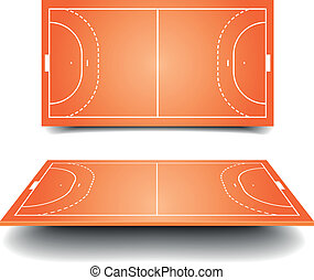 handball field - detailed illustration of a handball field...