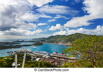 Saint Thomas, U.S. Virgin Islands - Beautiful landscape of...