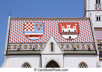 Roof of St. Mark's Church in Zagreb