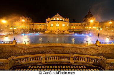 Szechenyi spa bath, Budapest, Hungary. Szechenyi Medicinal...