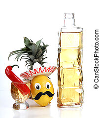 Tequila glasses - Tequila glass and Mexican toys of...