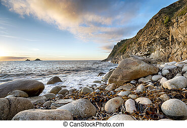 Porth Nanven Cove - The beach at Porth Nanven Cove near...