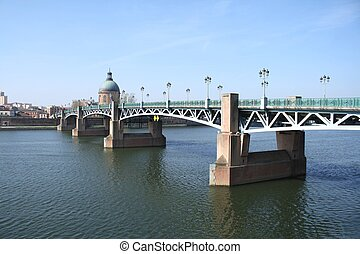 The Garonne in Toulouse, France